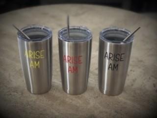 ARISE AM 20oz Tumbler Cup w/straws