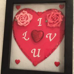 Valentine's Day Love Shadow Box