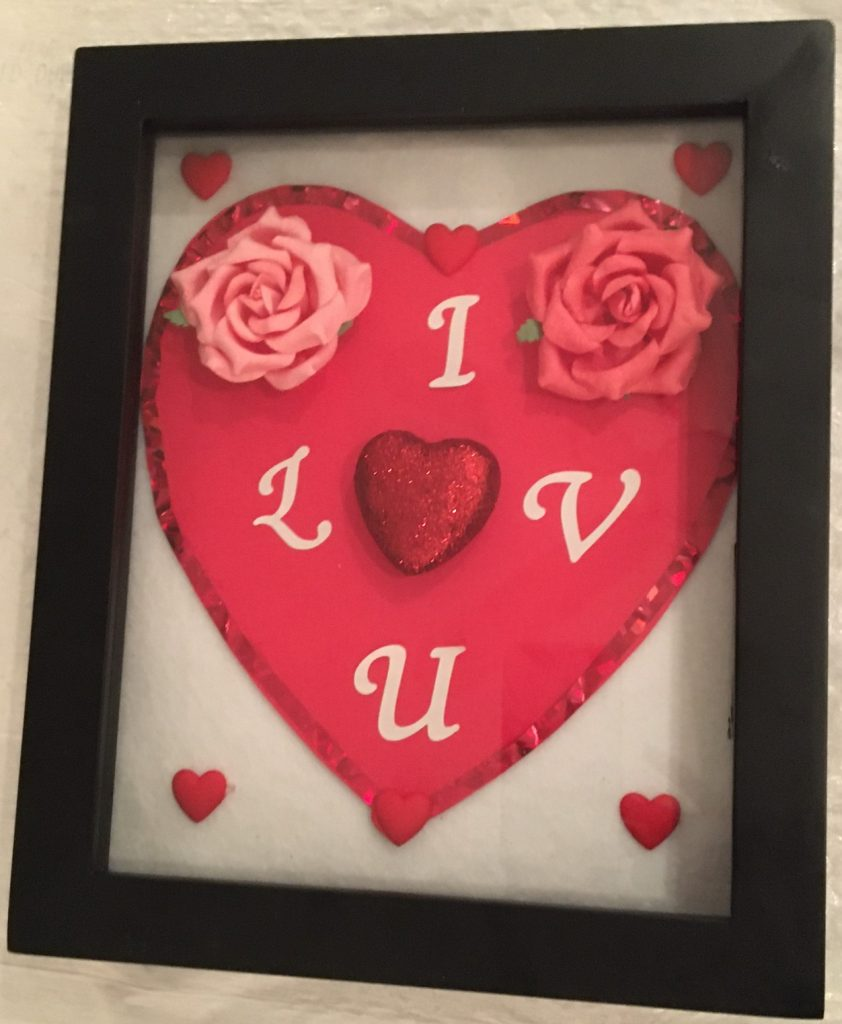 Valentine's Day Love Shadow Box